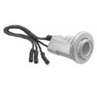 """SOCKET, DOUBLE CONTACT, ACCEPT INCANDESCENT OR LED BULBS, 16 AWG LEADS, 8"""" LONG, FOR, TAIL, STOP, PARK, TURN SIGNAL, GROUND WIRE"""