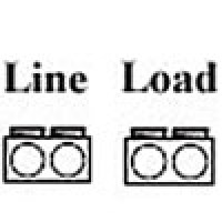 POWER DISTRIBUTION BLOCK, LINE 350MCM-6AWG 2 OPENING,  LOAD 350MCM-6AWG 2 OPENING, 1POLE (AL-P2-P2)