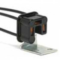 FLASHER CONNECTOR, ACCEPTS 3-PRONG FLASHER UNITS, 14AWG WIRE LEADS, W/PLATED STEEL BRACKET