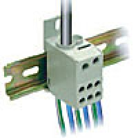 ONE PHASE POWER DISTRIBUTION BLOCK, 80A, INPUT 1x8-4AWG