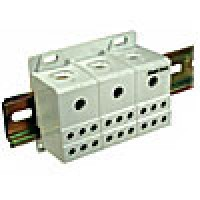 THREE PHASE POWER DISTRIBUTION BLOCK 115A, INPUT 3 x 8-2AWG, 600V AC