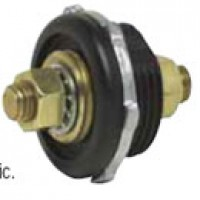 "BATTERY FEEDER STUD, BLACK, IMPACT RES. PLASTIC, TWO 3/8""-16 THREAD BRASS STUD TERMINALS, 5/8"" LONG"