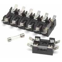 FOR GLASS FUSES & 30410 BREAKERS, INDIVIDUAL HOT FEED, W/BLADES, BREAKABLE, 4-GANG