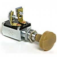 """SPST, OFF-ON, NORMALLY OFF, 2 SCREW TERMINALS, ALUMINUM MOUNTING STEM 3/8"""" - 32 THREAD"""