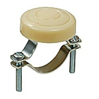 """HORN BUTTON, IVORY, 1-11/16"""" DIAMETER, CLAMP-ON BRACKET, FITS STEERING COLUMN UP TO 1-1/2"""""""
