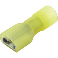"Female Fully Insulated Slide Connectors 12-10GA .250"" Nylon Yellow"