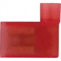 """Female Fully Insulated Flag Connectors 22-18GA .250"""" Nylon Red"""
