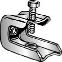 """UNIVERSAL, ZINC PLATED, 3/4"""" FLANGE, 3/8""""-16 TAPPING, 3/8"""" DROP ROD"""