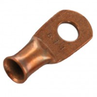 "Unplated Copper Lug 6 Awg 3/8"" 20 Pack"