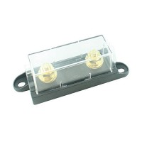 FUSE HOLDER FOR HIGH AMP SIZE BOLT ON FUSES, CLEAR COVER 25PK