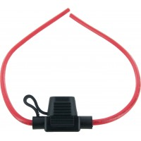 In-Line Mini Blade Fuse Holder 12 Awg With Cover 25 Pack