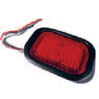 """4"""" X 6"""" RECTANGULAR, RED, STOP/TURN/TAIL, W/GROMMET & PIGTAIL KIT"""