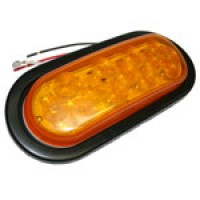 OVAL, AMBER, TURN/TAIL, 27-DIODES, W/GROMMET & PIGTAIL KIT