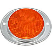 "AMBER ROUND, 3"" ALUMINUM HOUSING, 2 HOLES"