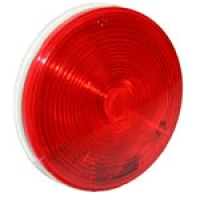 "4"" DIAMETER ROUND, RED, STOP/TURN/TAIL"