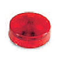 "2.5"" DIAMETER ROUND, RED, 4-DIODES, SINGLE CONTACT"