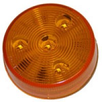 "2.5"" DIAMETER ROUND, AMBER, 4-DIODES, SINGLE CONTACT"