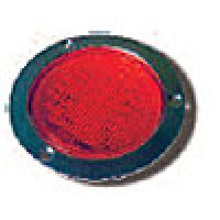 """4"""" DIAMETER ROUND, RED, STOP/TURN/TAIL, 56-DIODES, W/S.S. FLANGE"""