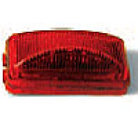 "1"" X 2"" RECTANGULAR, RED, 6-DIODES, SINGLE CONTACT"