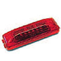 "1"" X 4"" RECTANGULAR, RED, 12-DIODES, SINGLE CONTACT"
