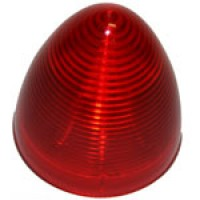 """2.5"""" DIAMETER BEEHIVE, RED, 8-DIODES, SINGLE CONTACT"""