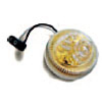 """CLEARANCE/MARKER LAMPS, CLEAR LENS (GOLD REFL.)  AMBER, 2 1/2"""" ROUND, 2 DIODES"""