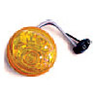 "CLEARANCE/MARKER LAMPS, AMBER, 2"" ROUND, 2 DIODES"