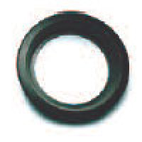 """MOUNTING GROMMET, BLACK, 4"""" ROUND, OPEN BACK"""