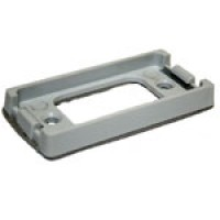 """ADAPTER MOUNT FOR RECTANGULAR 1"""" X 2"""", GREY, 1 BULB, SEALED UNIT, ABS"""