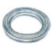 """MOUNTING GROMMET, CLEAR, 4"""" ROUND, OPEN BACK, VINYL"""