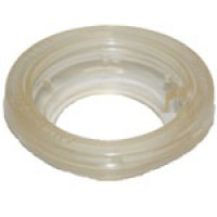 """MOUNTING GROMMET, CLEAR, 2.5"""" ROUND, OPEN BACK, VINYL"""