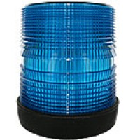 """HIGH INTENSITY- LOW PROFILE, BLUE, 5 3/4""""HIGH X 5 3/4"""", RUBBER BASE, SURFACE MOUNT, 12-48VDC"""