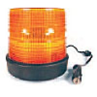 """HIGH INTENSITY- LOW PROFILE, AMBER, 6""""HIGH X 5 3/4"""", RUBBER BASE, MAGNETIC MOUNT, 12-48VDC"""