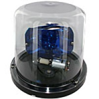 """PARABOLIC REFLECTOR- LOW PROFILE, BLUE, 6 7/8""""HIGH X 8"""", ABS BASE, SURFACE MOUNT, 12VDC"""