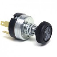 3POSITION:OFF/PARK-LOW-HIGH, SINGLE MOTOR, 5 BLADES, W/PUSH TO WASH,  6A BREAKER @ 12VDC