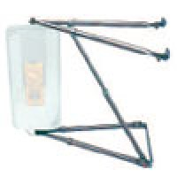 MIRROR ARM ASSEMBLY, WEST COAST, BLACK ENAMEL, (MIRROR NOT INCLUDED)