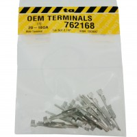 "Delphi 12034047 OEM Male Tab Size .110"" Terminal 20-18 Awg 10 Pack"