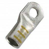 """Extra Heavy Copper Lug for Battery and Welding Cable 1/2"""" 4/0GA Yellow Crimping Die"""