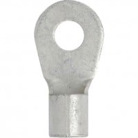 "Tin Plated Copper Ring Terminal 6 Awg 1/4"" Small Stud"