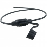 In Line Mini Fuse Holder with Cover 16GA