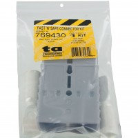 Battery Connector Kit 4/0 Awg 350 Amp Grey In Package