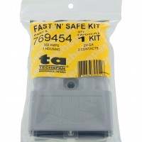 Battery Connector Kit 2/0 Awg 350 Amp Grey In Package