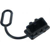 Protective Cover for 50 Amp Battery Connectors Black Front