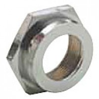 """FACENUT, BRASS-CHROME PLATED, HEX, 13/16""""THREAD, 5/8"""" HOLE CLEARANCE, 15/32"""" THICKNESS"""