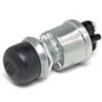 """2 SCREW TERM., MOUNTING STEM: 5/8""""-32 THREAD, 21/32"""" LONG. SCREW-ON BLACK RUBBER CAP (COLE HERSEE 90030)"""