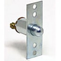 """SPST, NORMALLY ON, 5A@12VDC, WITH FACEPLATE, 2 SCREWS, PLUNGER:7/16"""" LONG, 4 MOUNTING HOLES"""