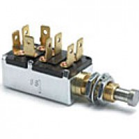 """SCHOOL BUS SWITCH, 5 CIRCUIT, 10A@12VDC, 8 BLADES, PLUNGER: 5/16"""" LONG, 7/16""""-28 THREAD MOUNTING STEM"""