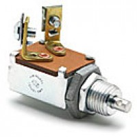 """NORMALLY OFF, 10A@12VDC, 2 SCREWS W/LOCKWASHER, USE WITH CABLE OR LEVER, MOUNTING STEM 1/2""""-20 THREAD, 5/8"""" LONG, NO KNOB"""