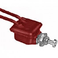 """NORMALLY ON, 10A@12VDC, 2-7"""" WIRE LEADS, PVC COATED,  MOUNTNG STEM: 7/16"""" - 20 THREAD, .44"""" LONG, STEEL BUTTON, .38"""" DIAM"""