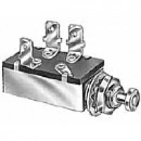 """DPST, NORMALLY ON, 10A@12VDC, 3 BLADES, PLUNGER:15/32"""" LONG, 7/16-20"""" THREAD"""